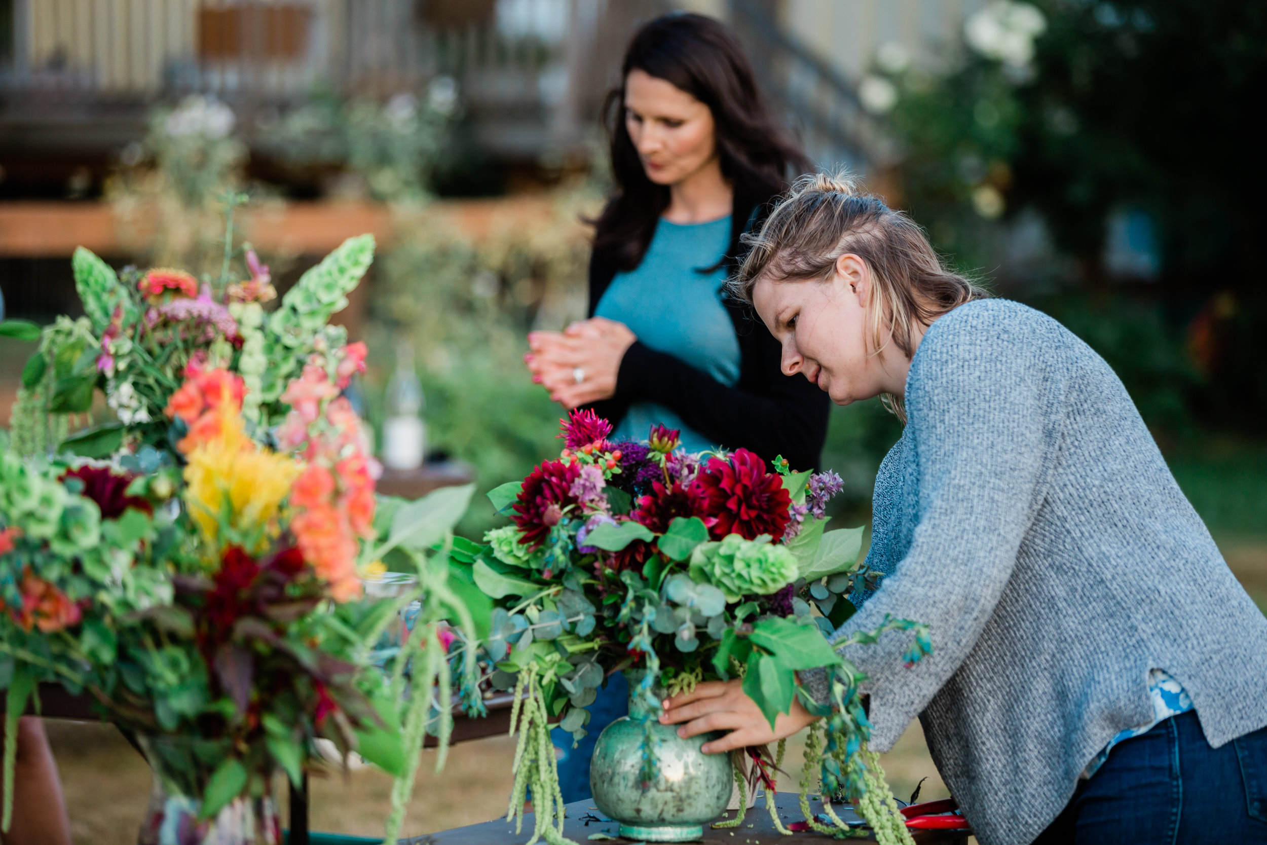 Flower Socials - Are you interested in gathering flowers with your friends? We offer flower gathering socials at our farm where you can come out and learn  about floral arrangement with your pals.