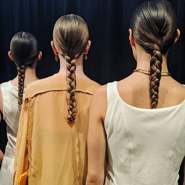 BEVZA SS20  Sleek and Braided @oribe  Key hair @kienhoang + @oribepro #teamoribe @christiancrush_oribe @dannguyeninsta @nicciwelsh @ashleybrecken @katiemhair @jenelleno.5 @shanellebrittney @daciacarroll @debbieann.duran  #braided #oribeobsessed #oribe #nyfw