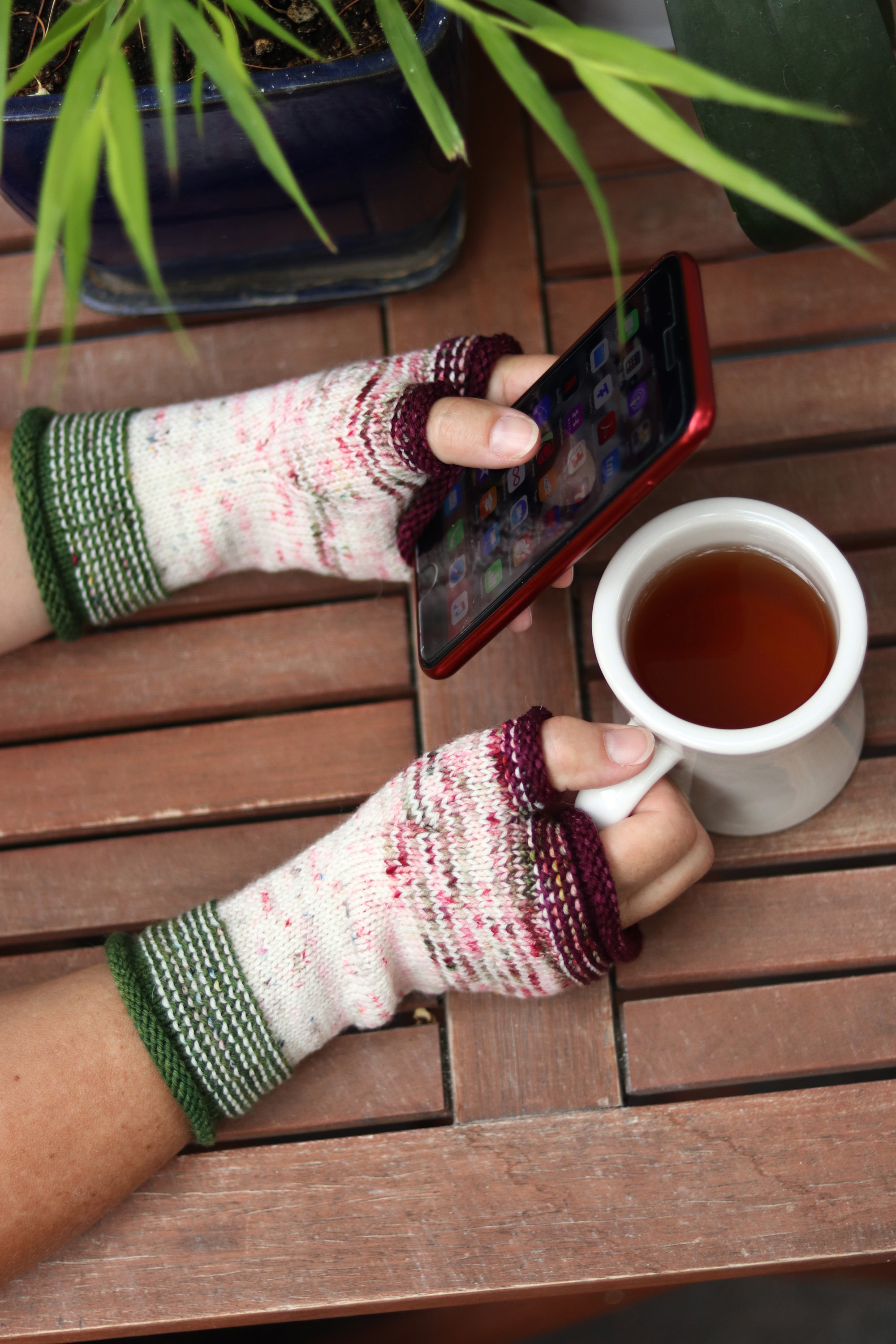 Fall Fade Fingerless Mittens