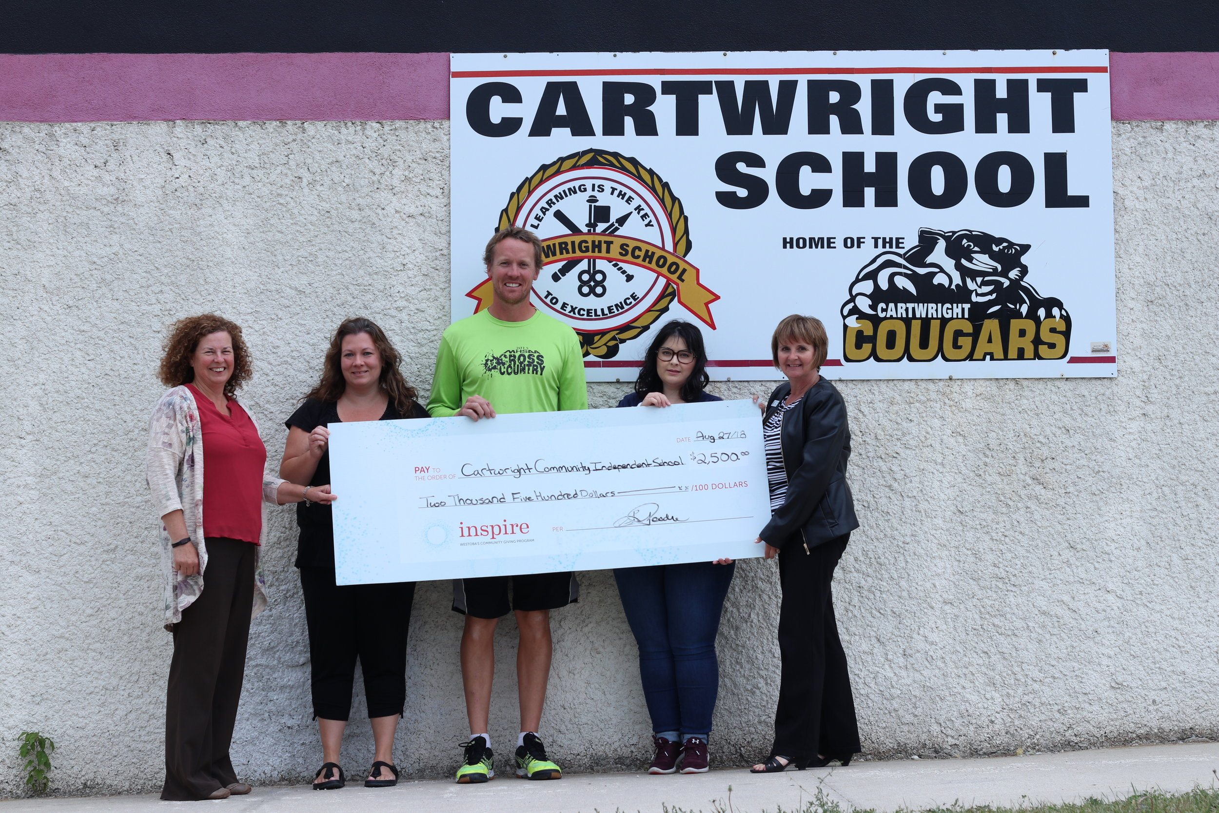 Cartwright Community Independent School - Was awarded $2,500 to support the continued implementation of their revitalization project to improve outdoor play facilities for students and community members.