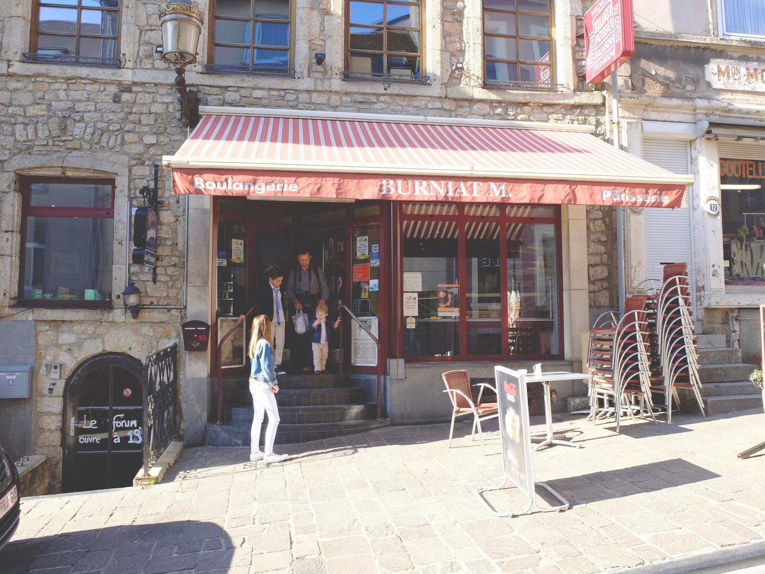 The boulangerie in Belgium.