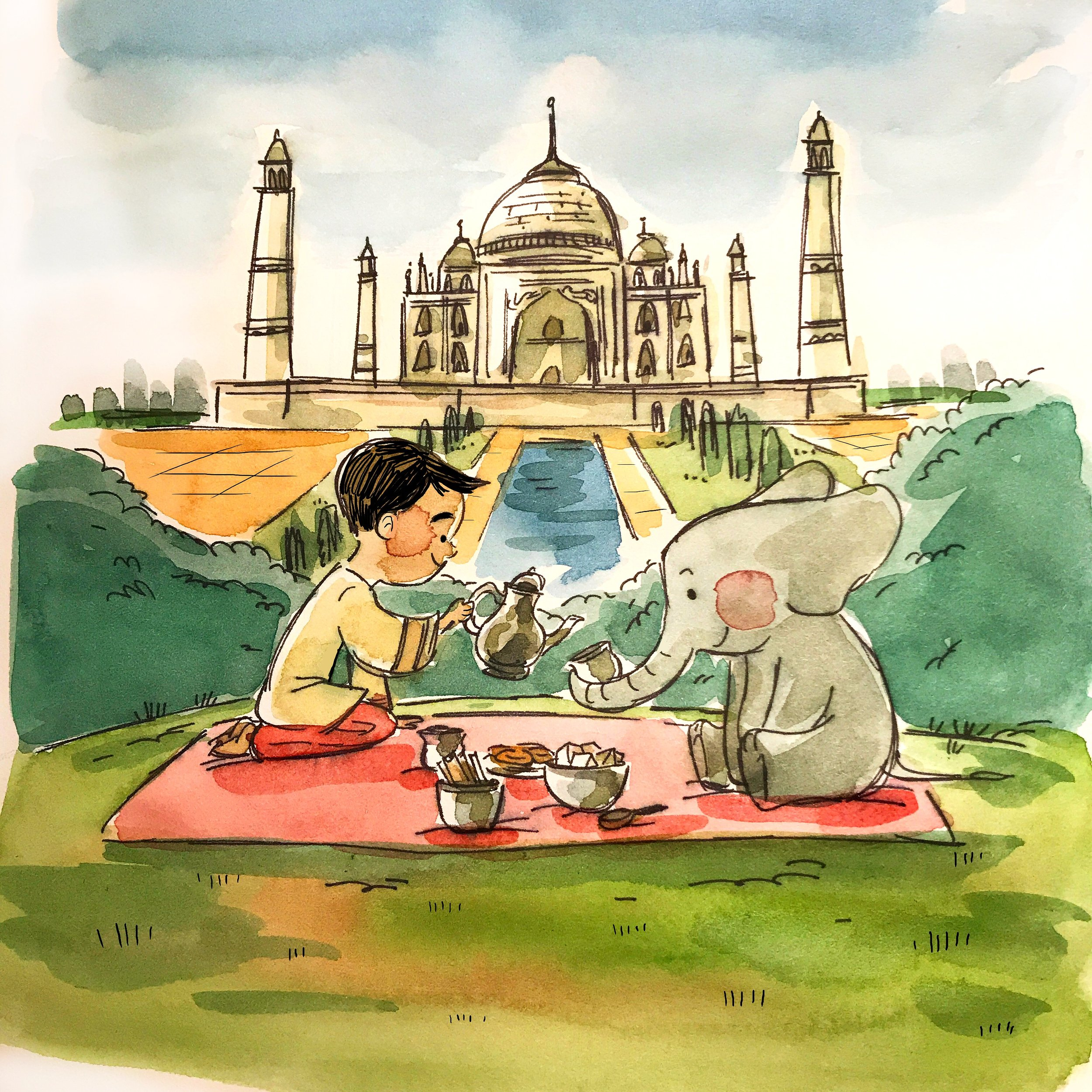 India by TA-DA! team artist Michelle Hiraishi