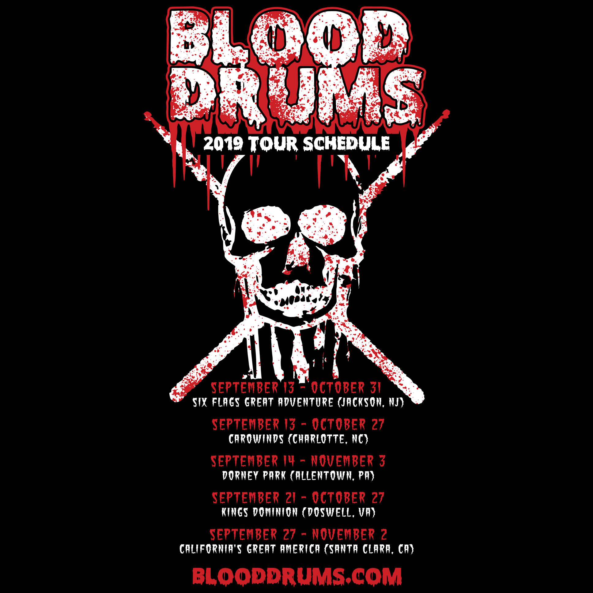 BLOOD DRUMS! - Street drum corps' BLOOD DRUMS is back and BLOODIER than ever with a brand new show for the 2018 season!Check out blooddrums.com for tour dates!