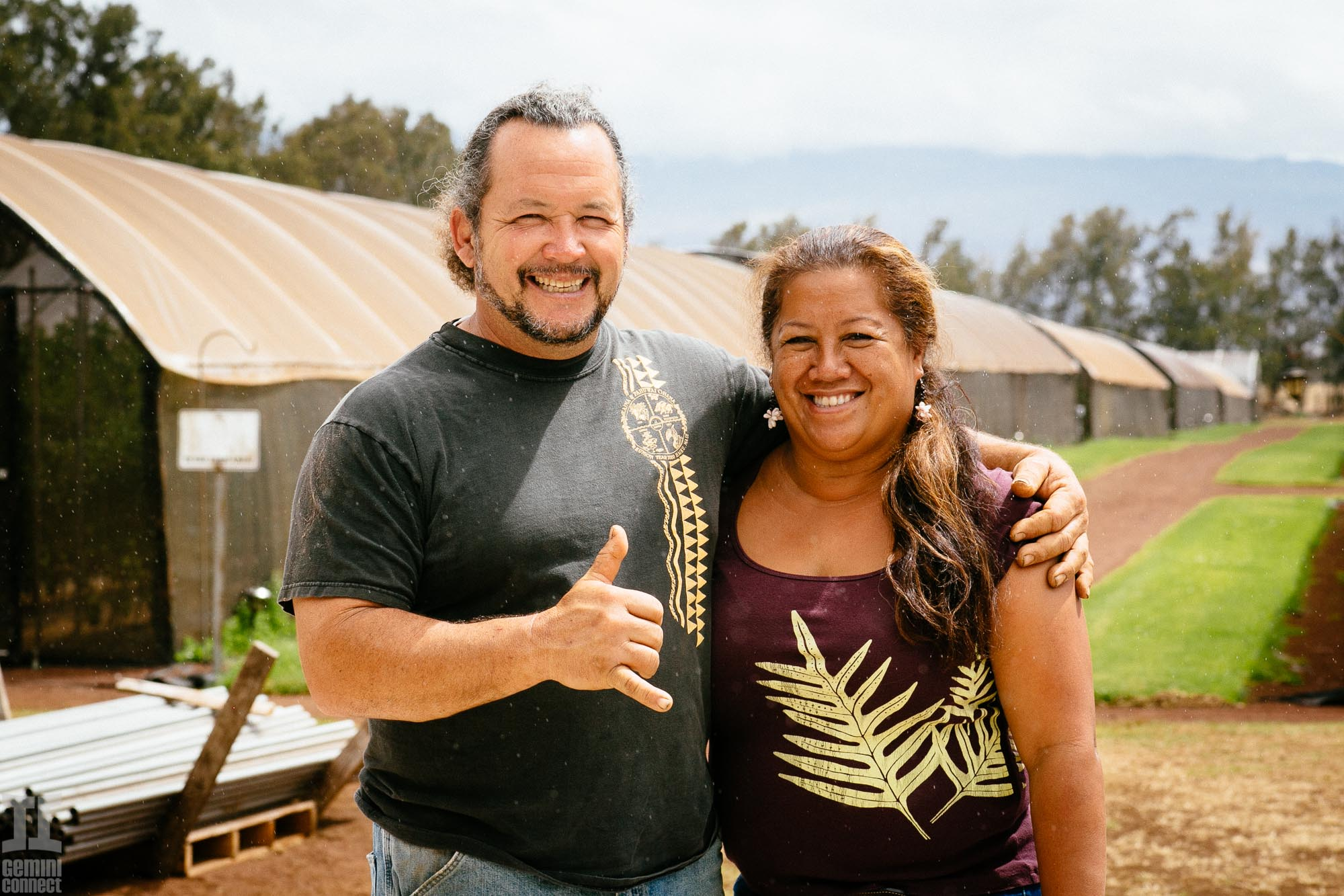 Mike and Tricia Hodson of Wow tomato farms on the Big Island of Hawaii.