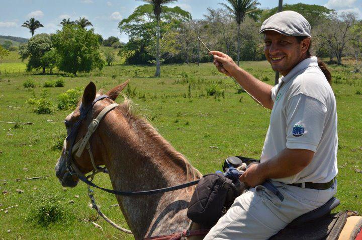Santiago Juan leading a tour in Belize.