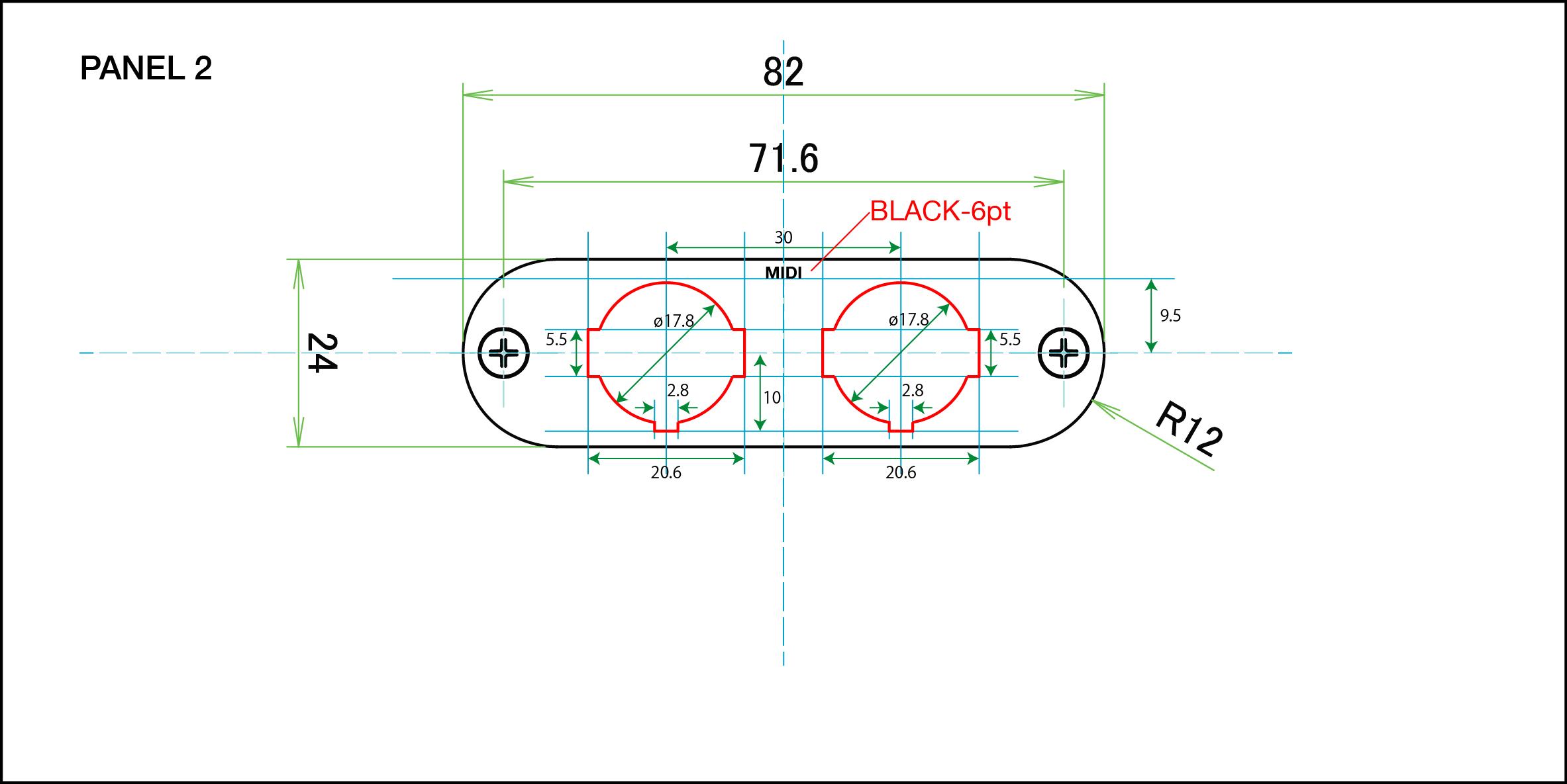 Panel layout for  Takachi's MXA2-8-12 .