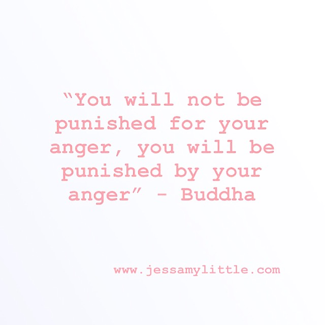 """You will not be punished for your anger, you will be punished by your anger."" - Buddha"