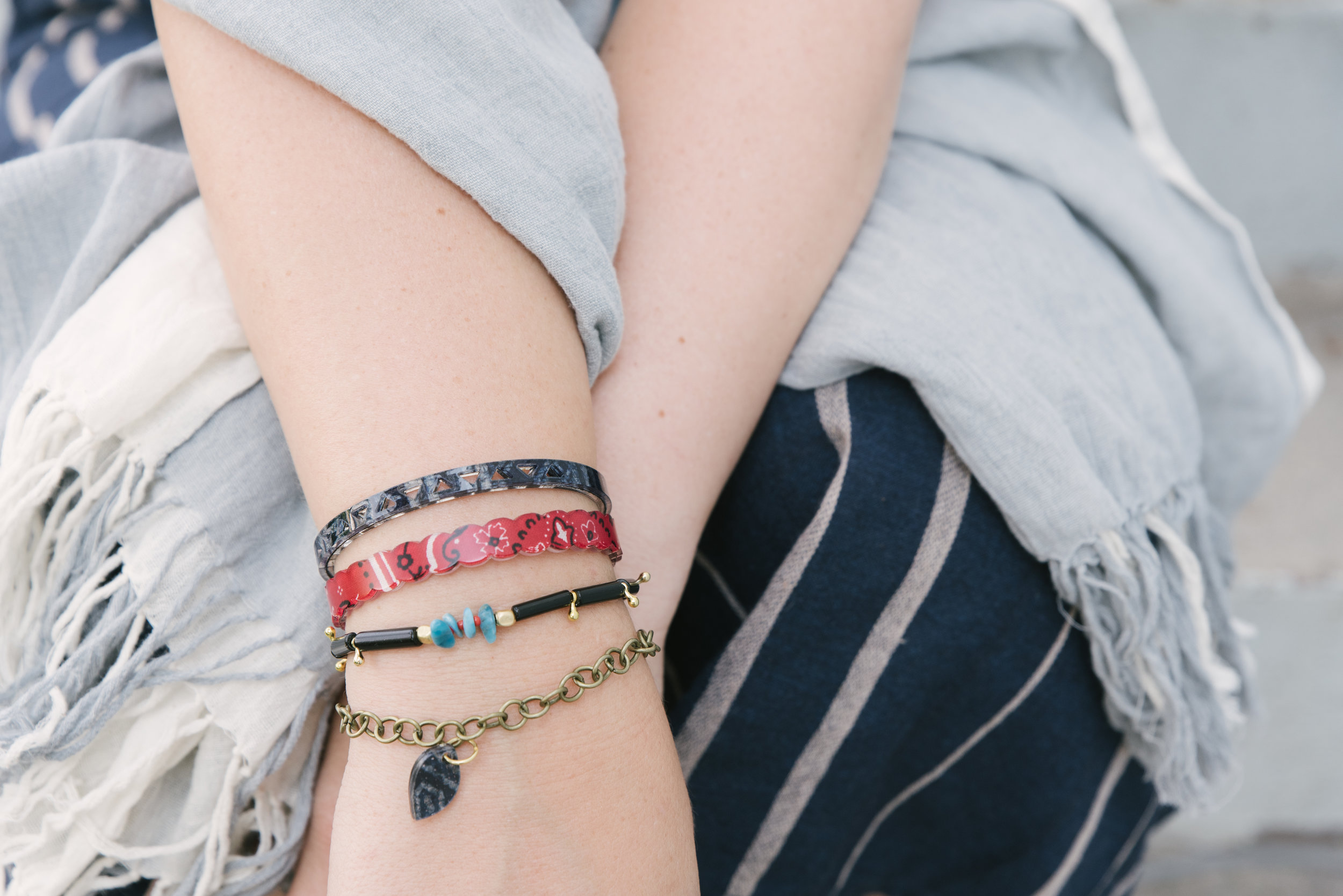 Jewelry is the best way to capture this trend  Resin trend: red bandana inside. shop  c olorbyamber