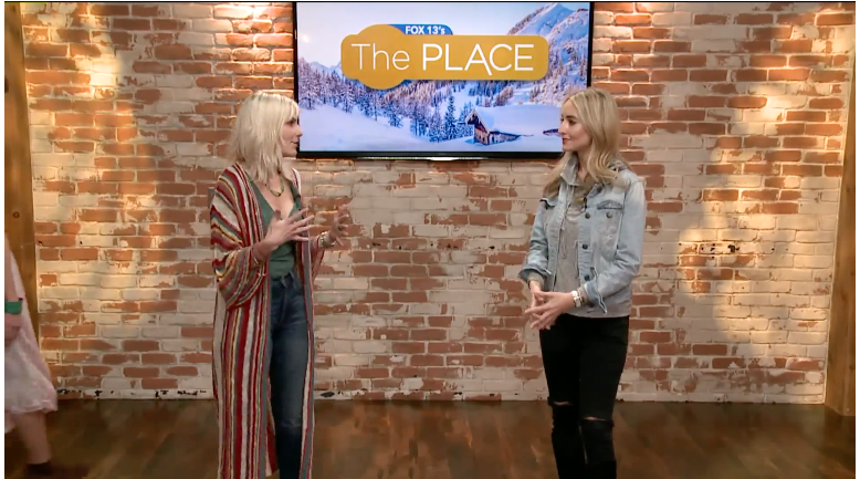 Watch full episode, link at top of this post. Fox13 with Jen Clyde, Fashion Stylist.