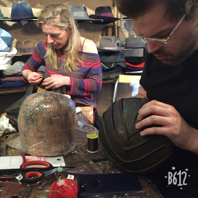 NYC East Village Hats Learn to Sculpt and Freeform Leather Masterclass with Jaycow Millinery 2.JPG