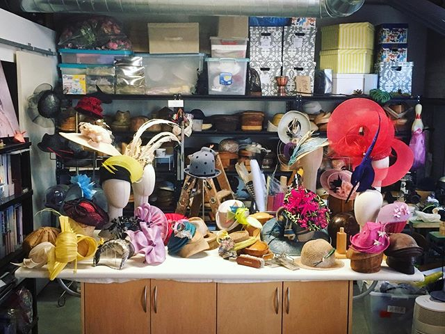 Where is the Milliner ? Honored to have @jesusmazaphoto in da house . 📷 Capturing me making hats and the very organized clutter of my space  Stay tune for more photos !  @thrillofascot @greenweedstakes @woodbinetb #queensplate #ascothats #racingfashion #millinery#帽子作家 #帽子識人 #bespokemillinery #torontofashion #handmadeintoronto #canadianmilliner #yyzmakers #customhats #handmade #fascinators