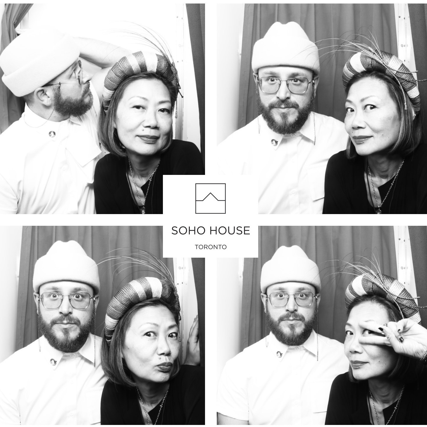 Jay Cheng of Jaycow Millinery and Kyle Kofsky of everyoneisanartist.ca TIFF 2019.