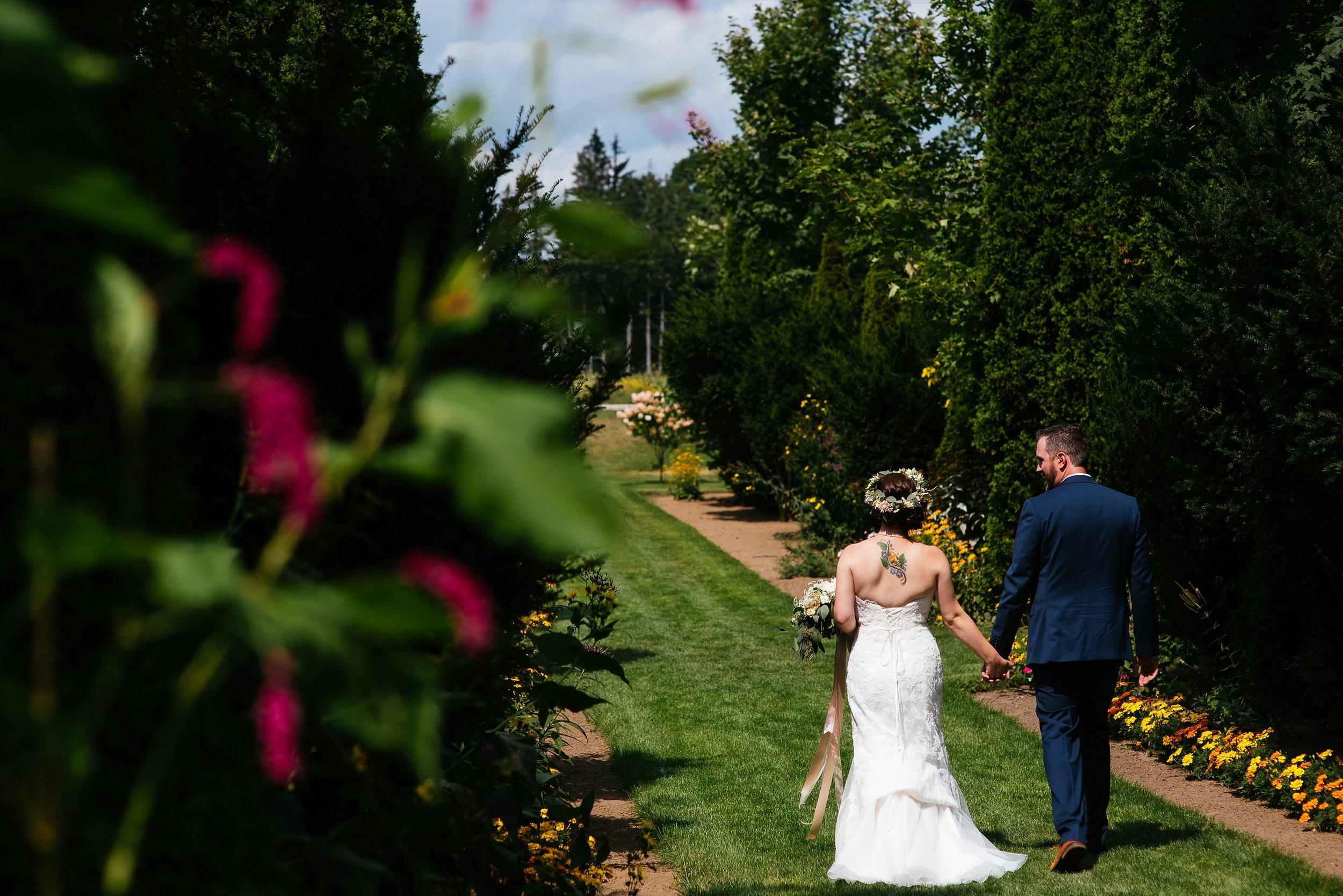 WEDDINGS - Cranberry Creek Gardens is the perfect rural setting for your wedding ceremony and reception in picturesque Lynedoch, Ontario. Our historic church, rustic barn and lush gardens are just a few of the variety of options we have available to ensure your wedding is exactly what you envision