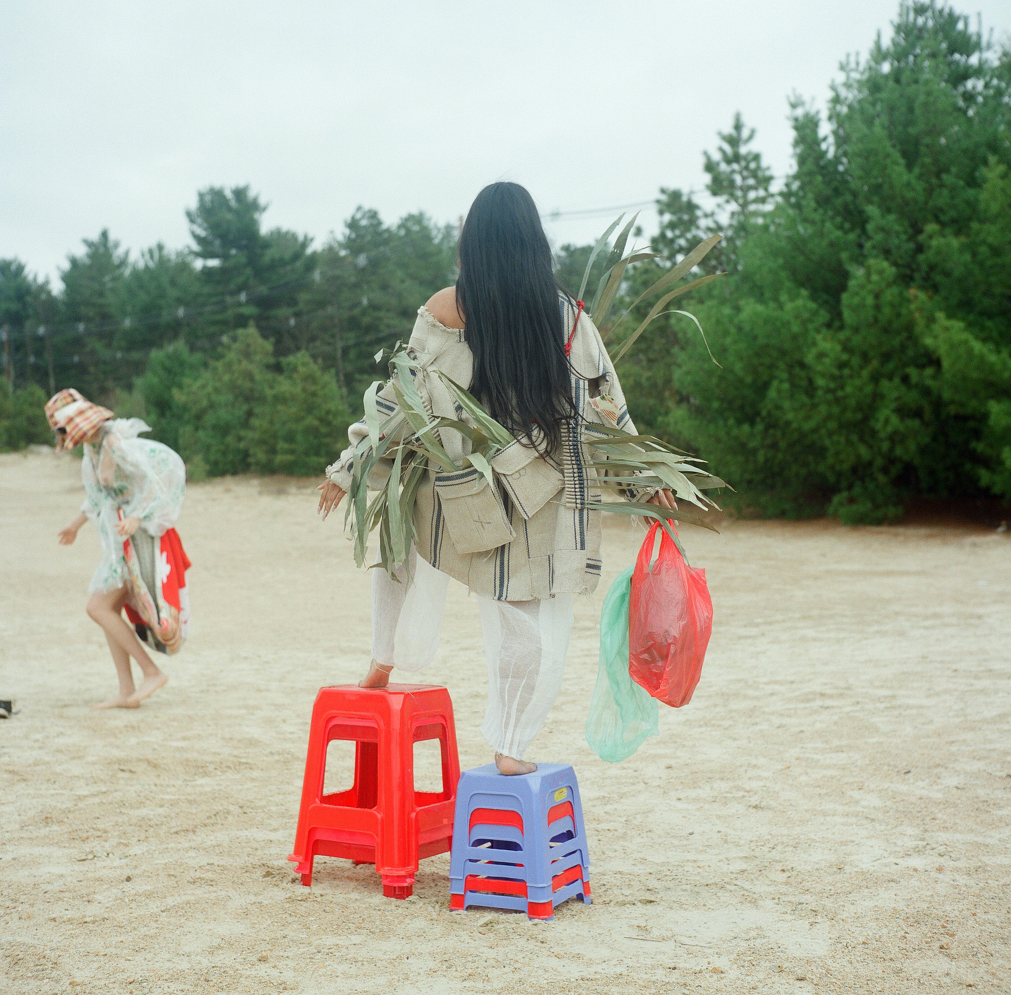 Crossing the Street w/ Milky Eyes Collection by Justine Nguyen