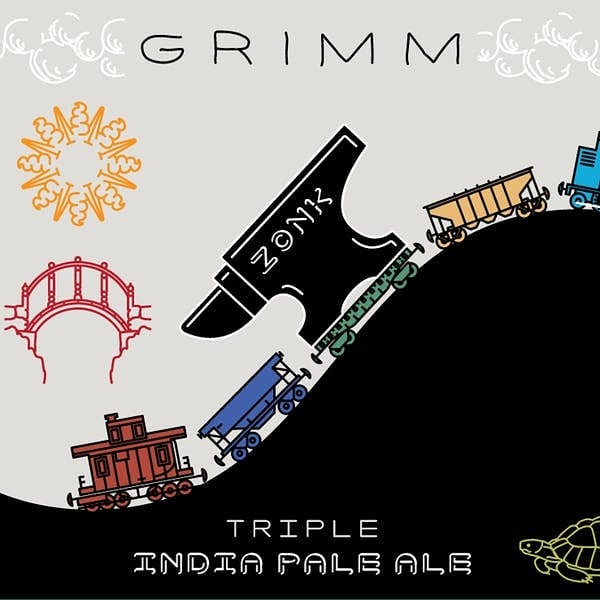 GRIMM Zonk has been tapped! A Triple IPA dry hopped with Mosaic, Simcoe, Citra, and Galaxy. #growler #crowler