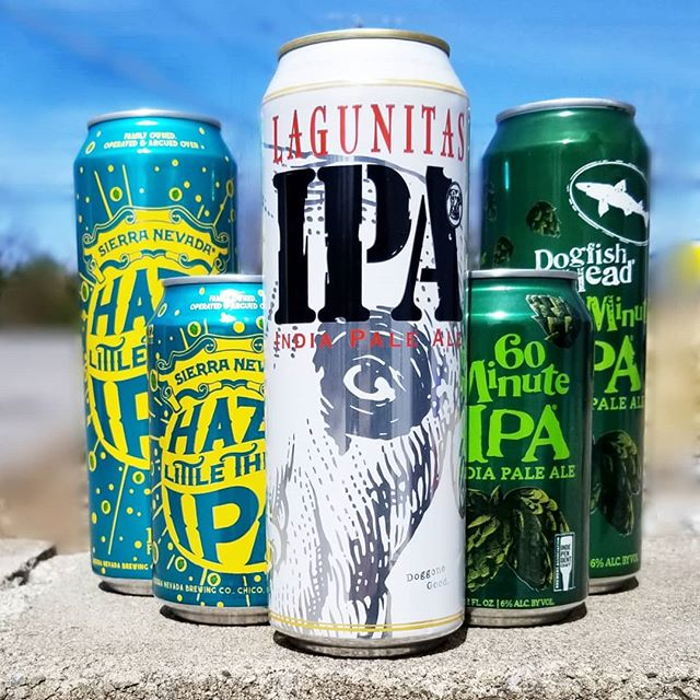 Some of our favorite go-to IPAs caught a glimpse of the sun and couldn't wait to show of their Summer of 2019 bods. Lagunitas IPA, Dogfish Head 60 Minute, and Sierra Nevada Hazy Little Thing, all now available in 19.2oz stovepipe cans!  #stovepipecan #stovepipe #summer2019 #brews #ipa #lagunitas #dogfishhead #60minuteipa #sierranevada #hazylittlething