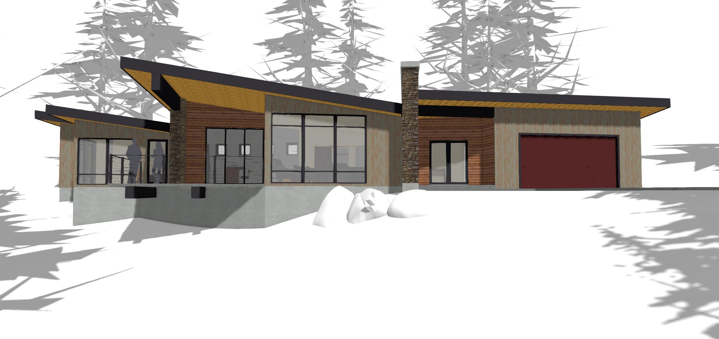 Residential design for mountain homes