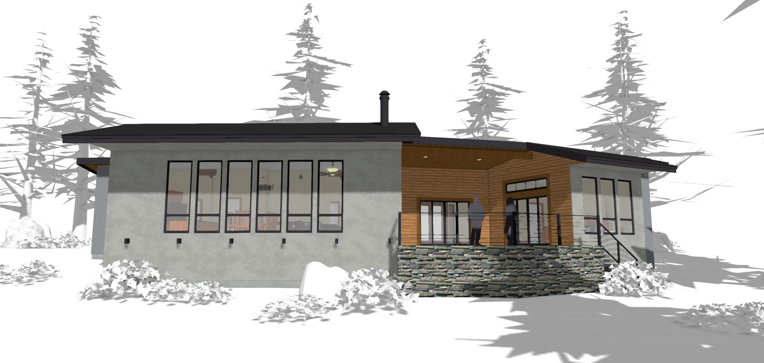 Energy efficient design for mountain living