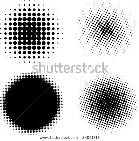 design elements - halftone patterns