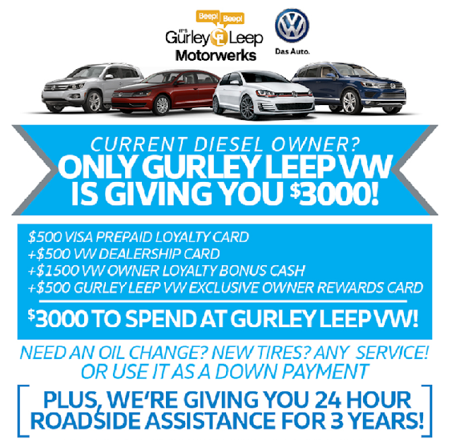 "A Volkswagon Dealer offering to match the compensation offered by Volkswagen and additional incentives for VW Owner loyalty and other ""rewards"" to come back."