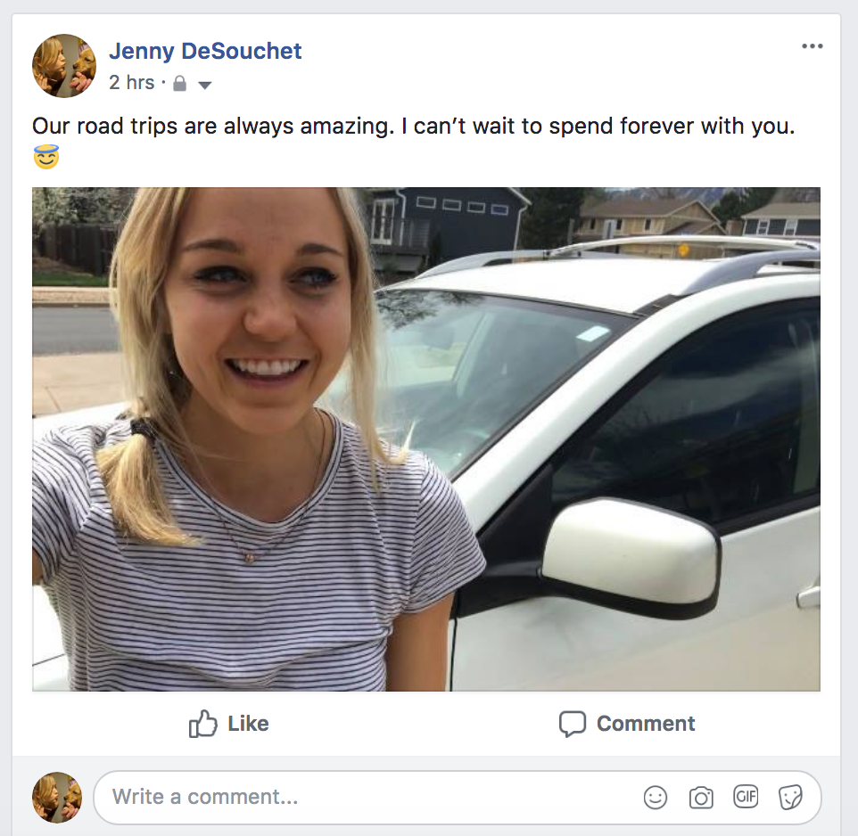 A FACEBOOK POST TO JENNY