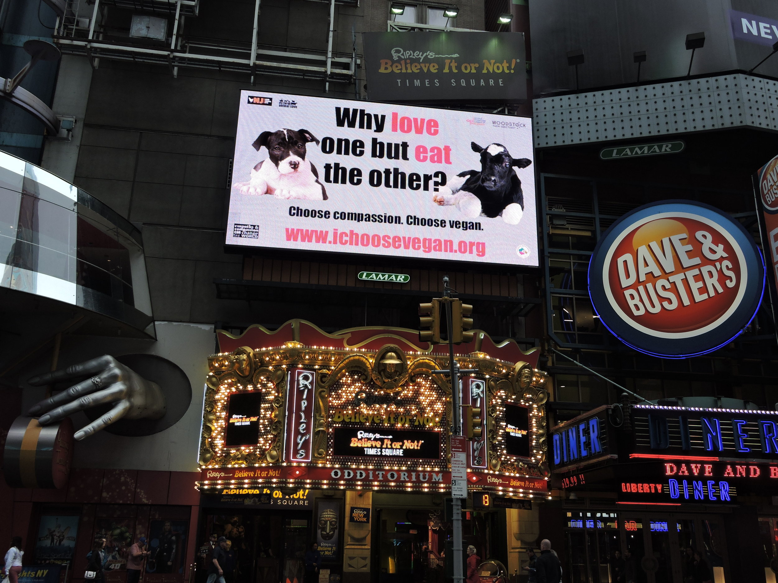 Times Square billboard, NYC