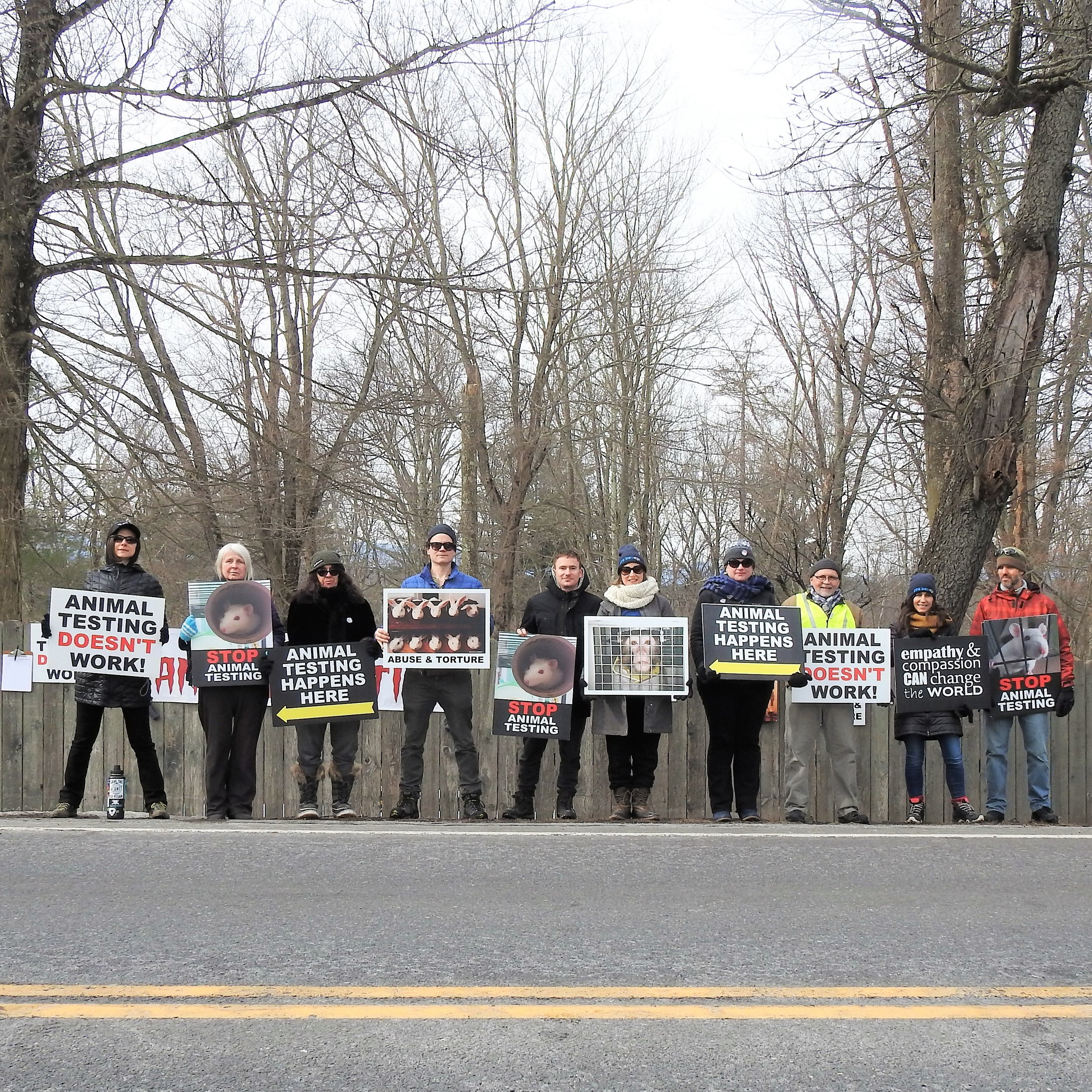 Vigil at Charles River Labs