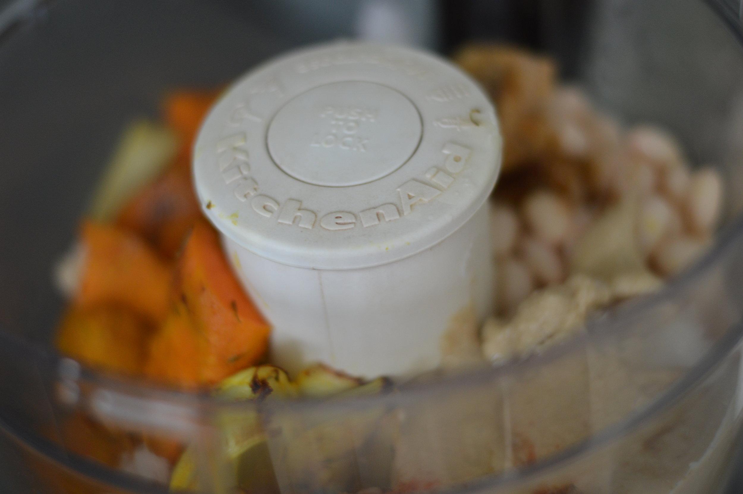 Throw all ingredience in a food processor or blender