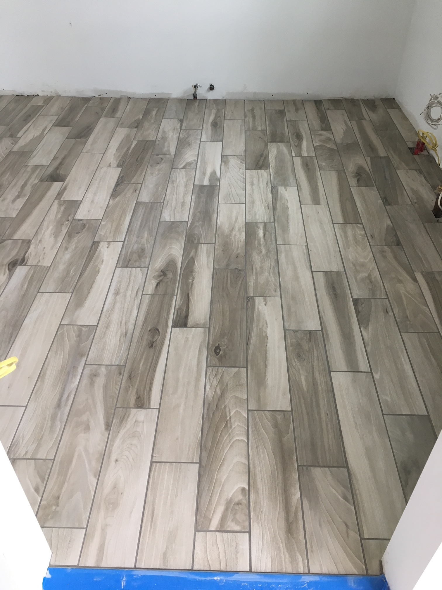 long port kitchen install and tile floor