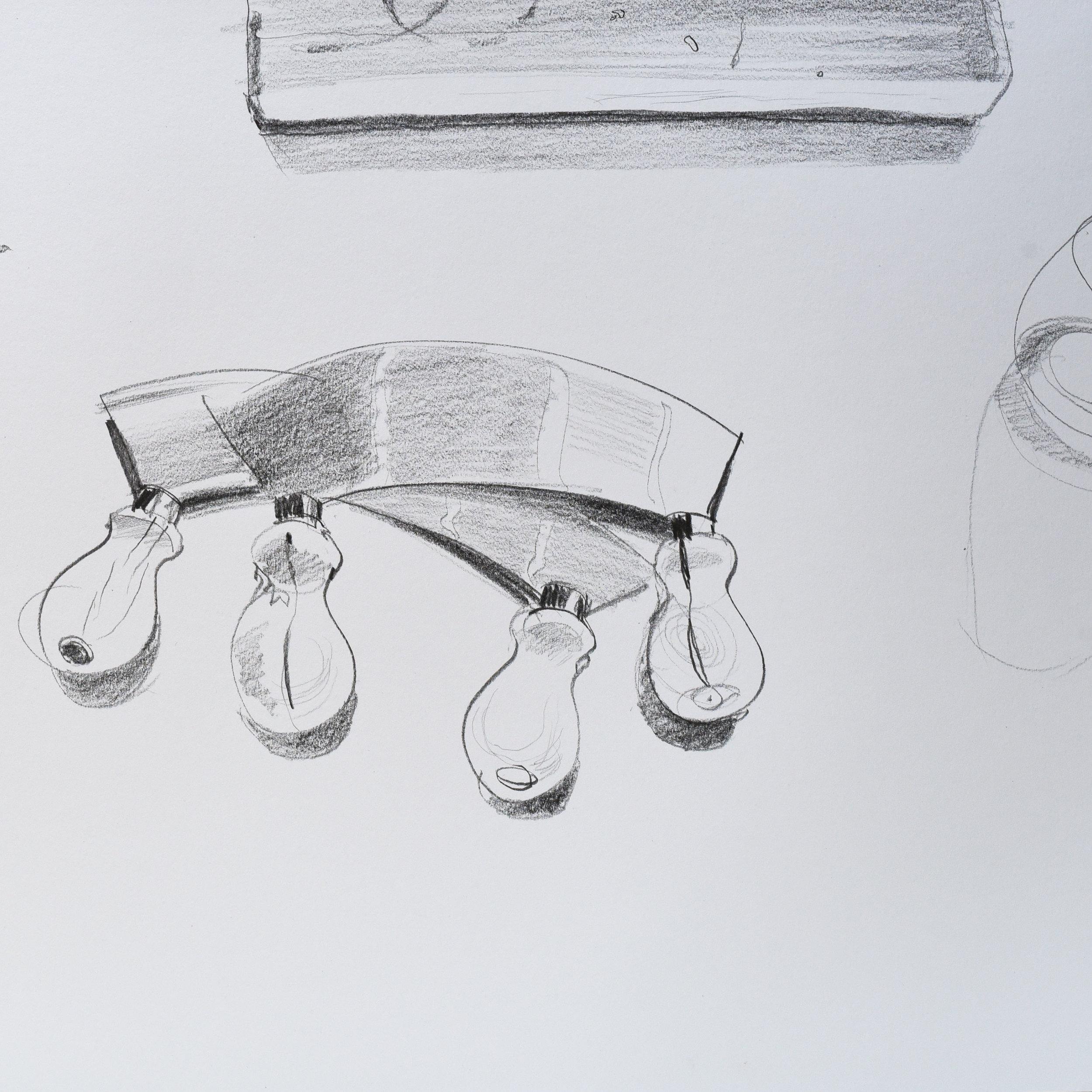 Illustration of mezzalunas in the kitchen