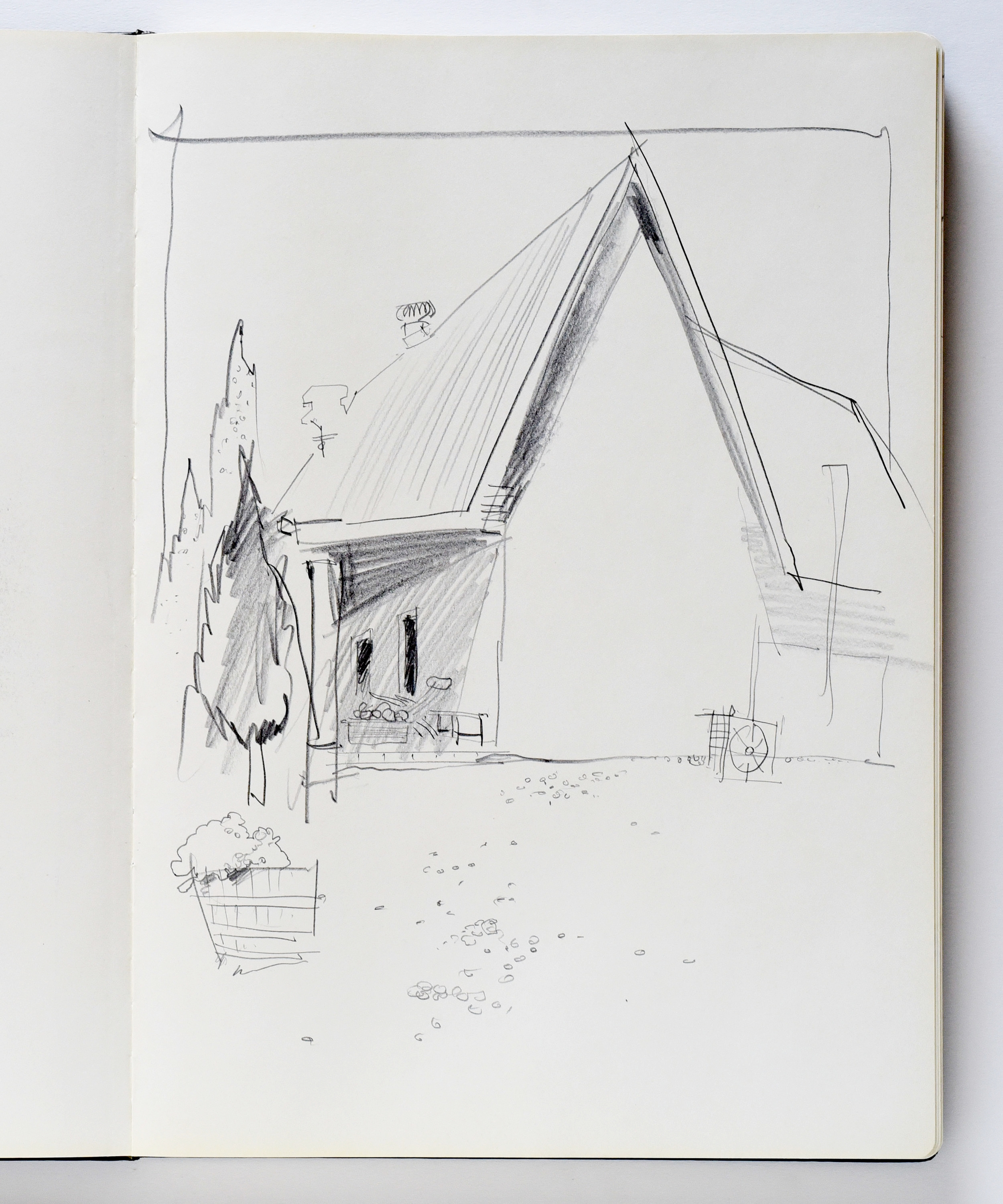Drawing of Castagna Winery in Beechworth Victoria