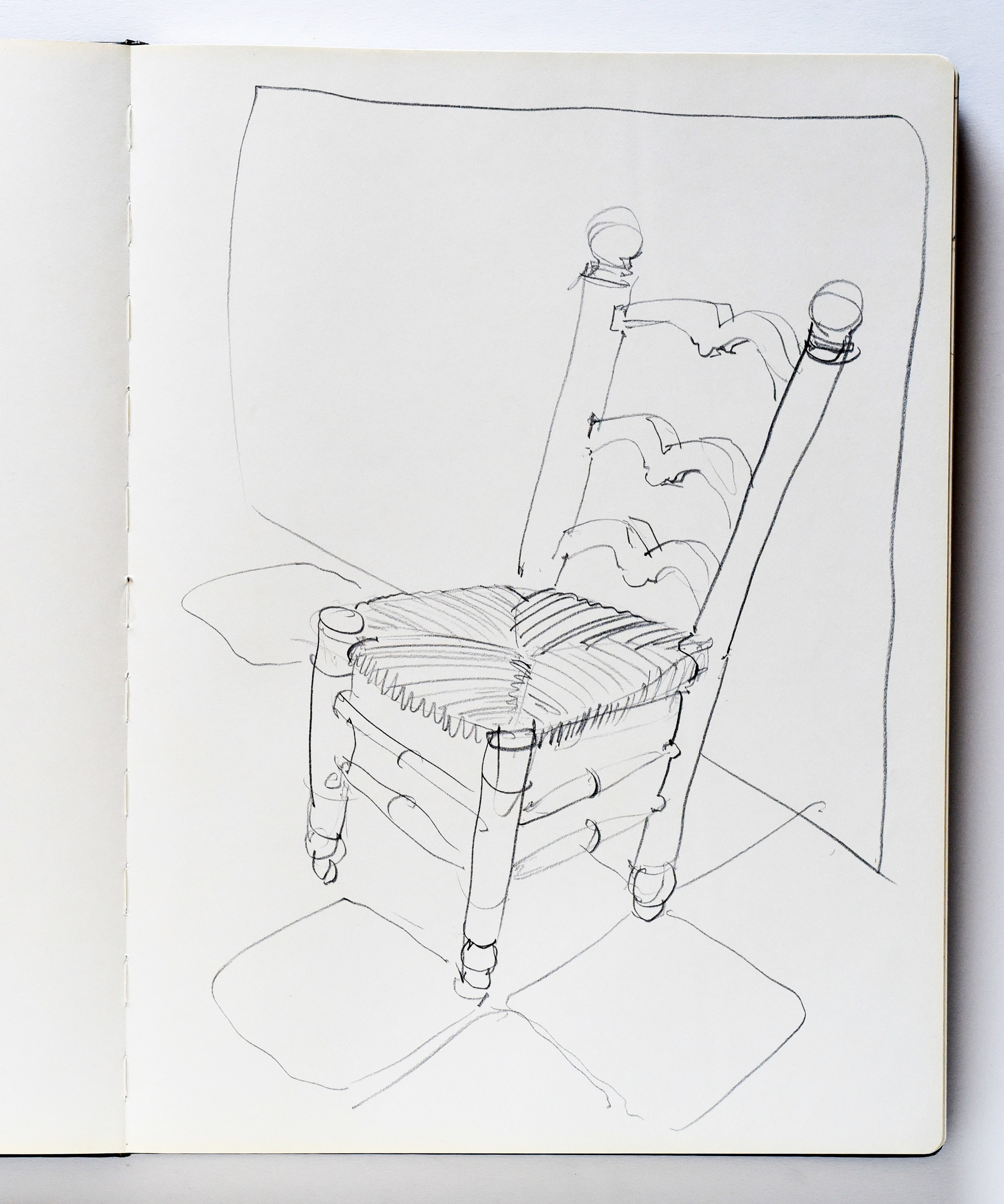Drawing of a chair in Saint-Rémy-de-Provence France