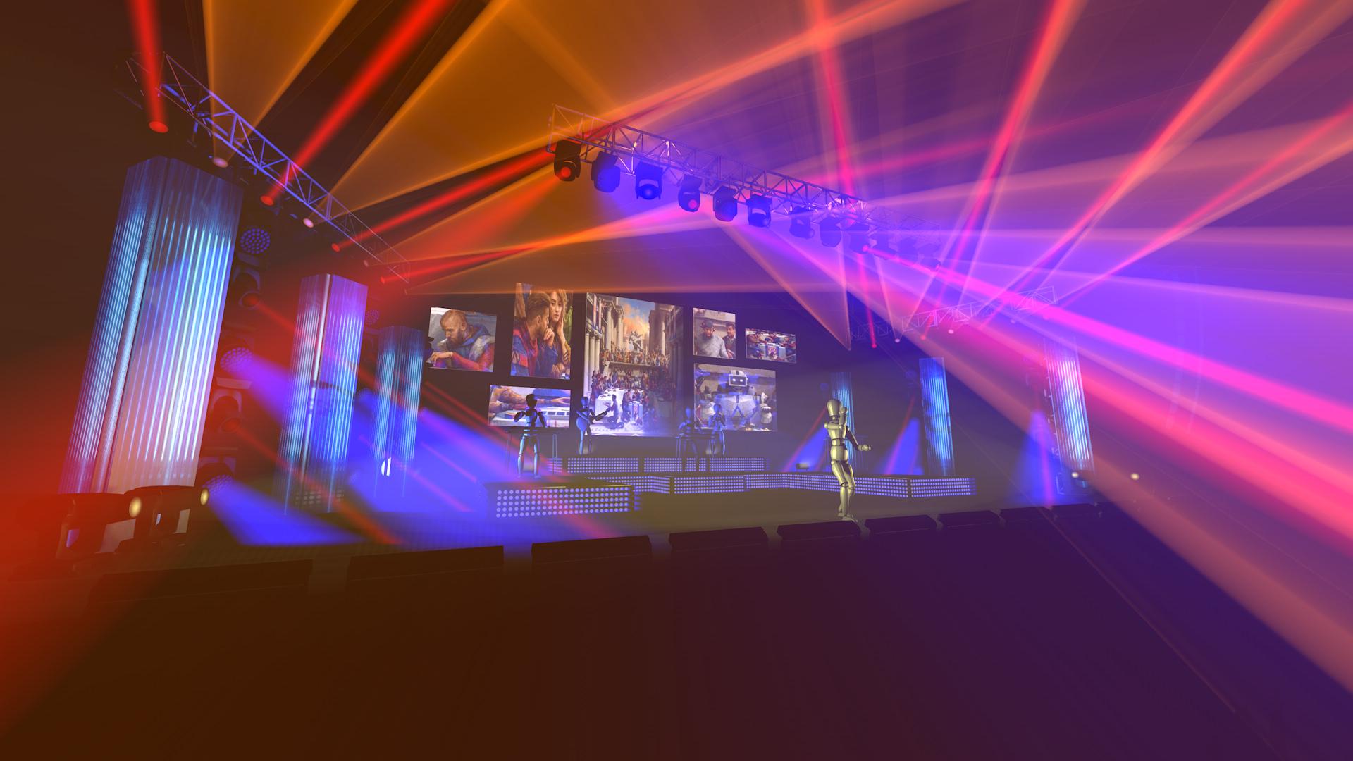 3D Rendering of Stage Design