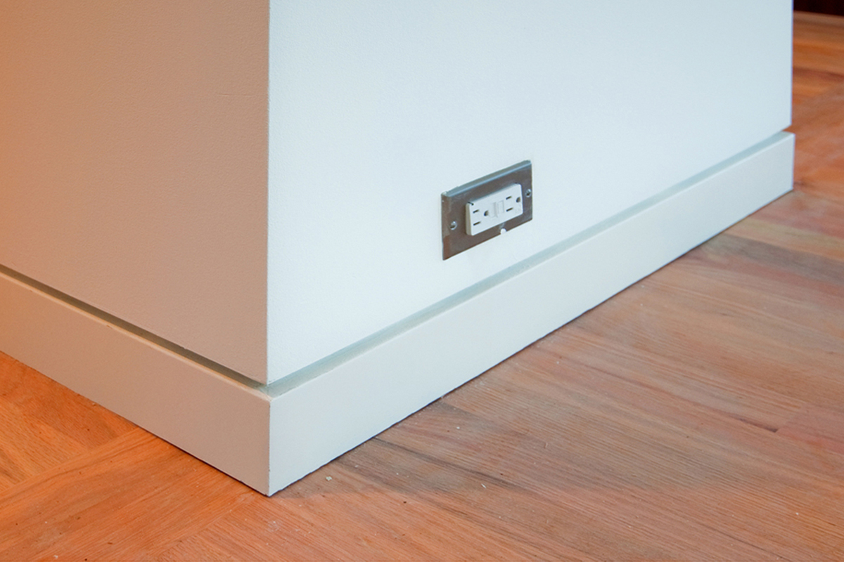 Flush baseboards for a modern look