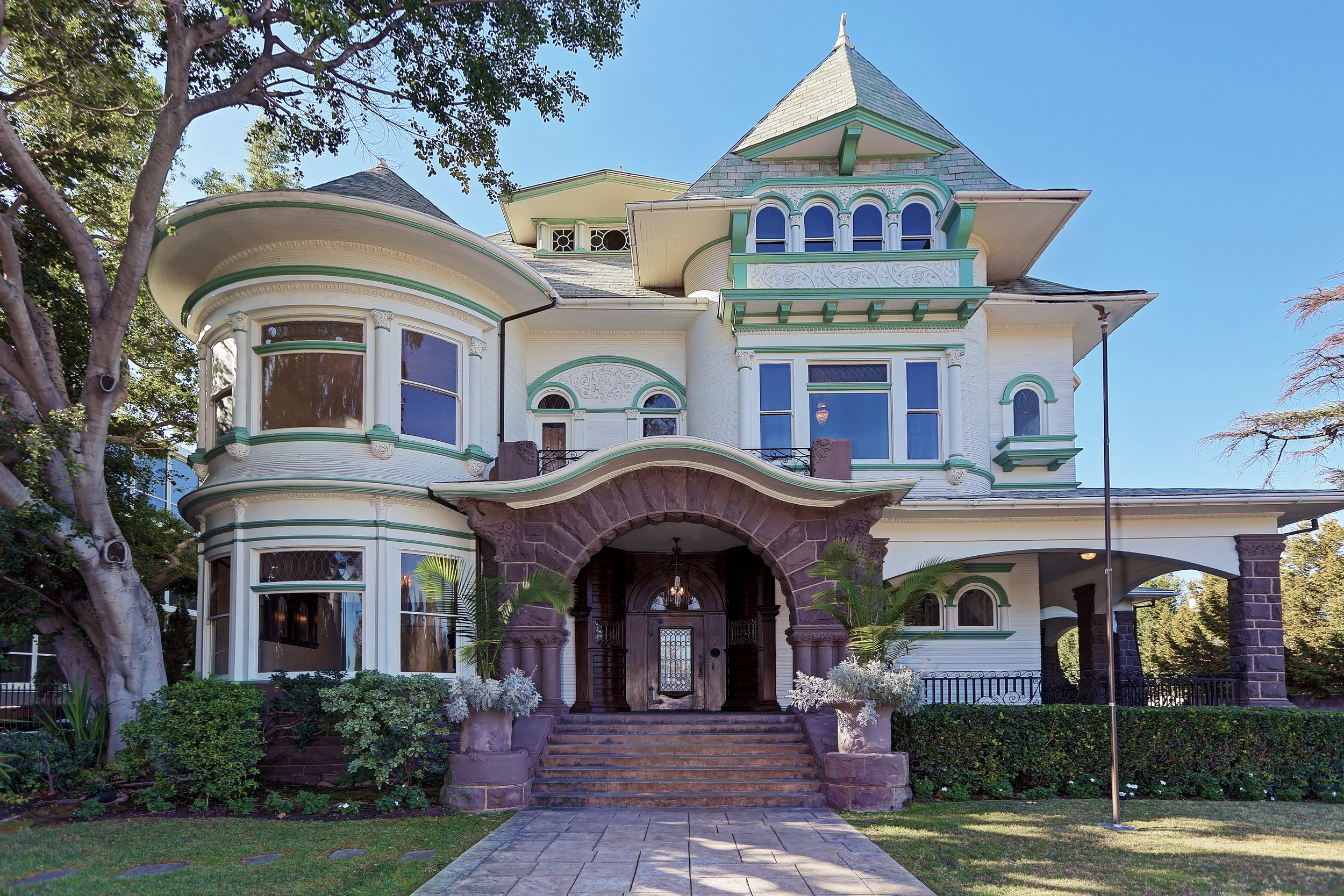 Victorian style (Queen Anne) house in Hancock Park. Listed at $7,999,999.  (12,147 sqft)