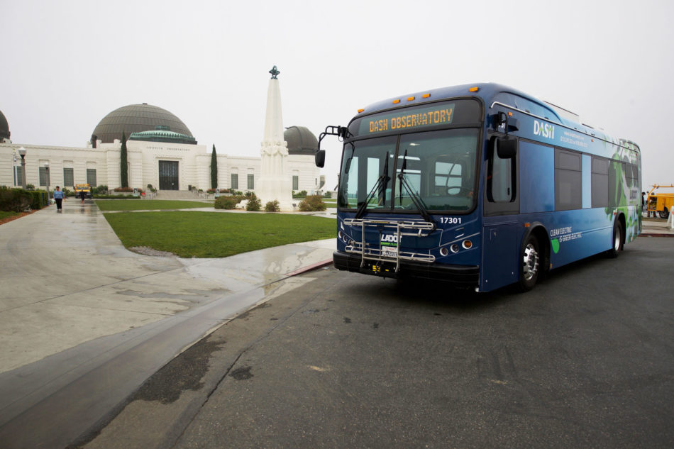 Dash bus at Griffith observatory