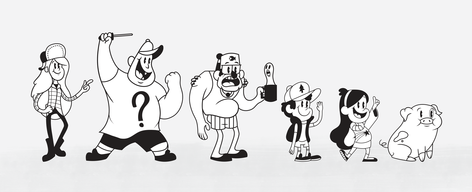 OLd timey gravity falls