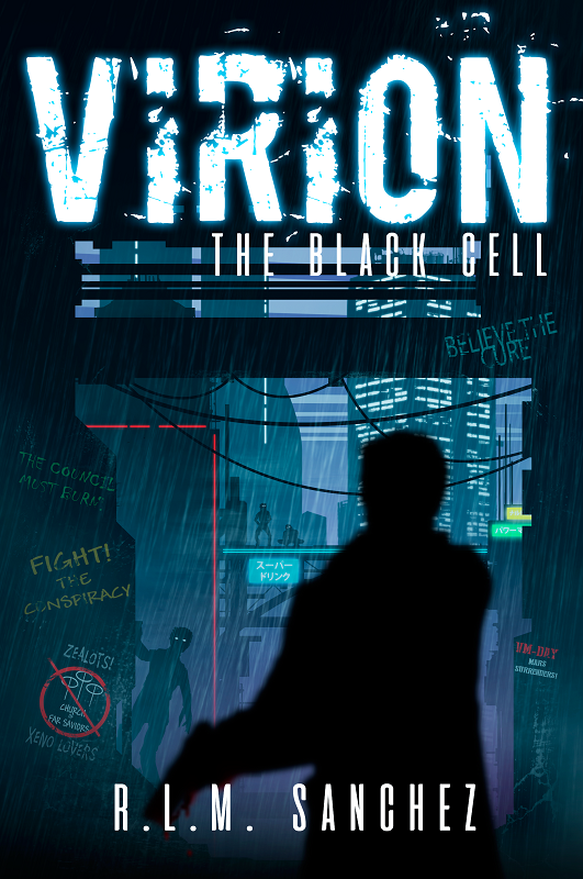 THE BLACK CELL (Book 1 of the VIRION Series) - Now Available!A disgraced Mars Colonial Detective must find a scientist's killer. If he fails, Earth will fall to a viral epidemic...Earth has been plagued with an ancient virus for centuries, killing any who breathe the unfiltered air. When an alien scientist finds that a cure is miraculously within reach, she and her staff are killed and the research destroyed by a secretive group of elite commandos.A disgraced Martian detective is given a second chance when he's recruited to investigate, but when he finds corruption within powerful corporations, nightmarish mutants prowling the streets, and lawlessness in the undercity depths, his path to redemption will be challenged as his buried past resurfaces.Will the Martian detective find those responsible who stole the cure in time to thwart a viral outbreak of ghoulish mutations? Find out in this debut novel, The Black Cell, Volume One in the Virion series, offering the fantastic blend of a sci-fi dystopia, mystery, action, and thriller!