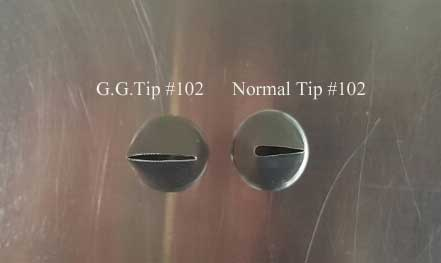 This tip is Not G.G.Special tip Please check above image to compare G.G.Special tip #102 vs Flowercake Tip #102