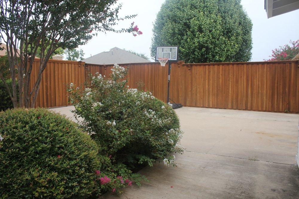 Plano Backyard