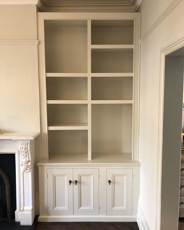 Completed this shelving unit earlier this week. It's part of an ongoing job in #Dulwich for @a_dulwich_diary - Clients wanted a taller more contemporary unit with space for a large lamp. Colour is @farrowandball 'Shadow White' finished in Estate Eggshell. Keep swiping to see before photos. #RichardsonInteriors #CarpentryAndJoinery #Carpentry #Carpenter #Joinery #Joiner #PaintingAndDecorating #FarrowAndBall #FarrowAndBallShadowWhite #ShadowWhite #EstateEggshell #InteriorDesign #Interiors #InteriorInspiration #Alcove #AlcoveShelving #AlcoveCabinets #Cabinets #AlcoveUnits #ShelvingUnit #Shelves #DeWalt #DeWaltTough #DeWaltTools #Renovation #Refurb #EdwardianHouseRenovation