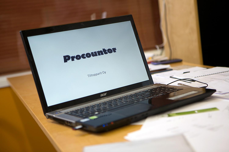 Käytössämme on Procountor kirjanpito-ohjelma.