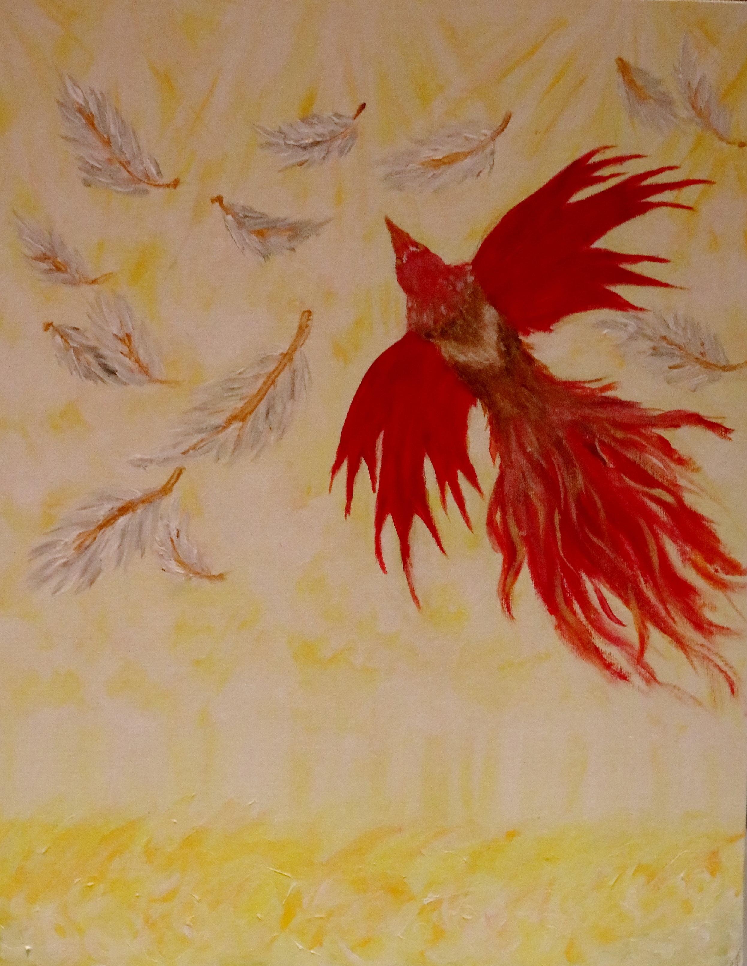 Red Bird Flying