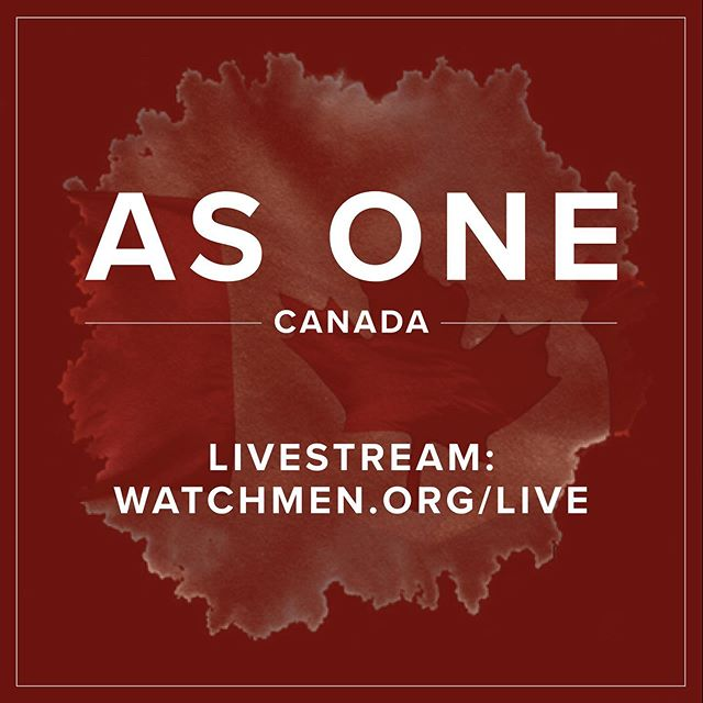 """The """"As One"""" Canada Gathering in Ottawa begins tonight at 7PM EST. Whether you are joining us in person or in spirit, we want to encourage you to stand with us in prayer!  The gathering will be live streamed in English and French. Click the link in our bio to watch on YouTube."""