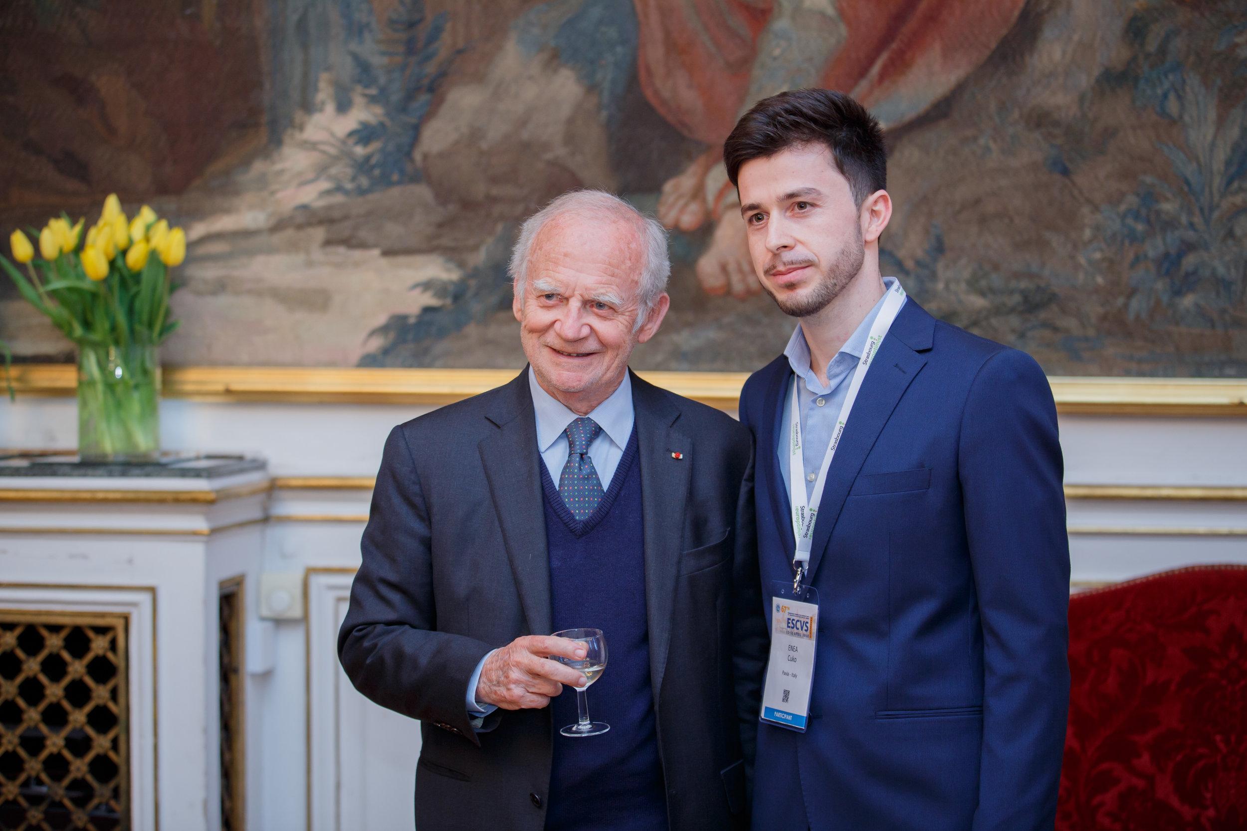 Pr Alain Carpentier, ESCVS 2018 Inauguration Dinner