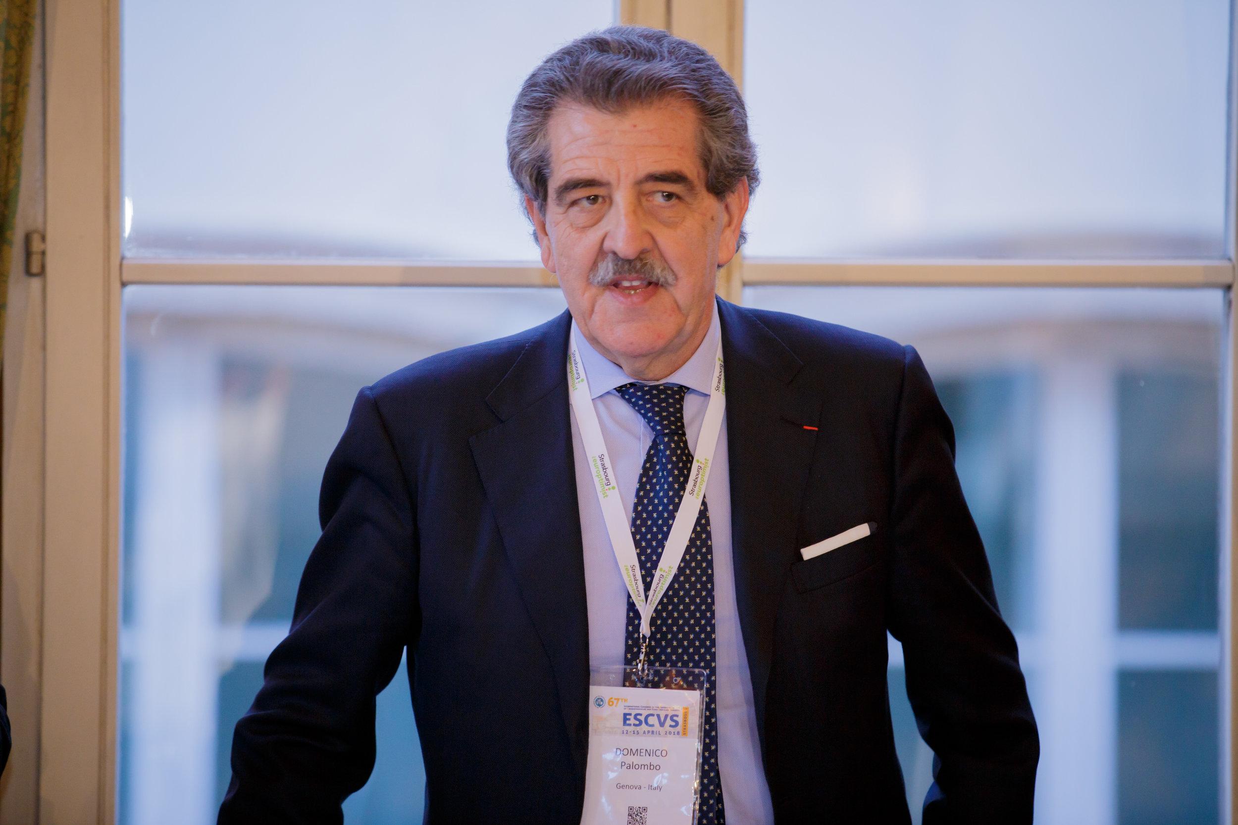 Pr. Domenico Palombo during the ESCVS dinner at Maison Kammerzell in Strasbourg
