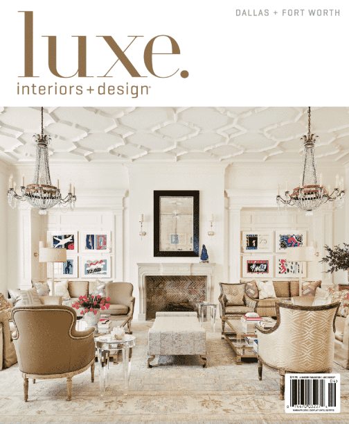Luxe Interiors + Design magazine cover 2018