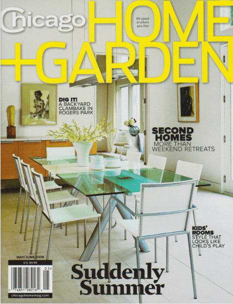 Chicago Home + Garden magazine cover 2009