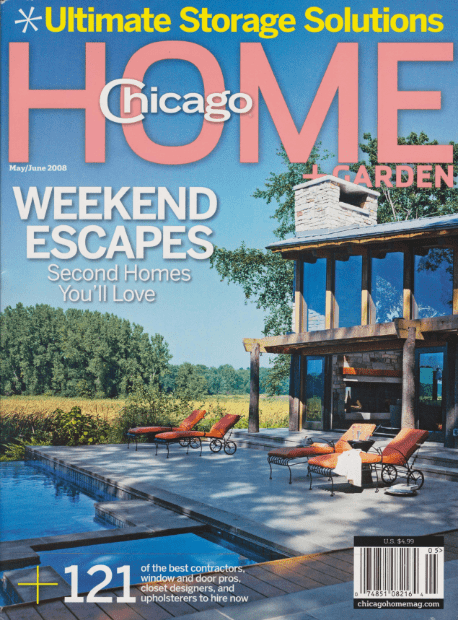Chicago Home + Garden magazine cover 2008