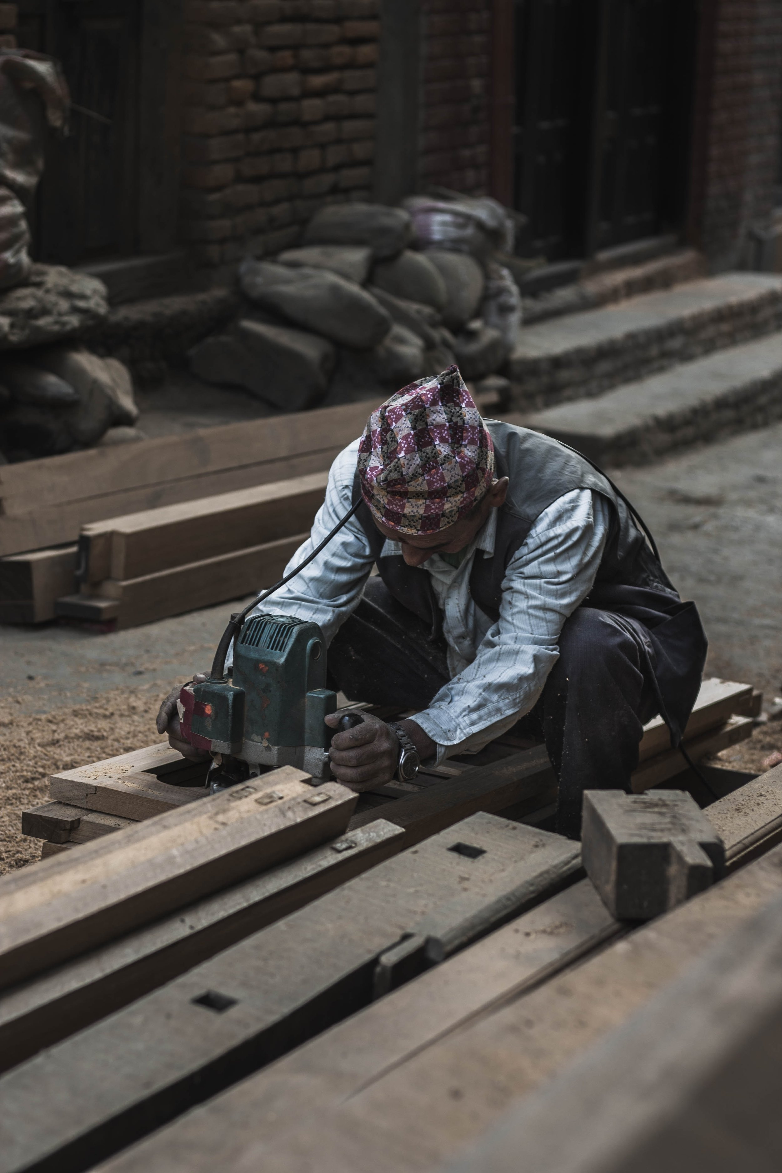 """Snapshots of a furniture factory in the Al Muntar industrial zone, in the portland trust's report """"Global Palestine, Connected Gaza: a spatial vision for the Gaza governates"""""""